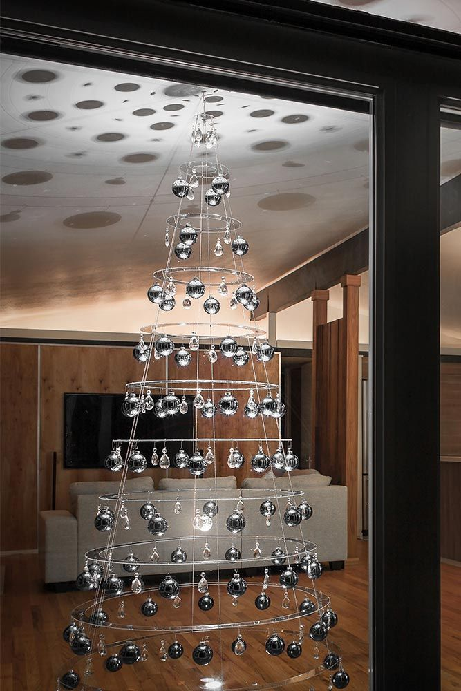 Decorated Classic 7 5 Tree Hanging Crystals Ceiling Hanging