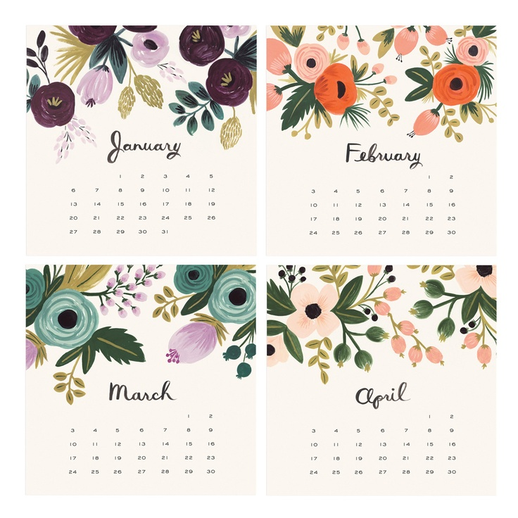 2013 Botanical Desk Calendar  by Rifle Paper Co.