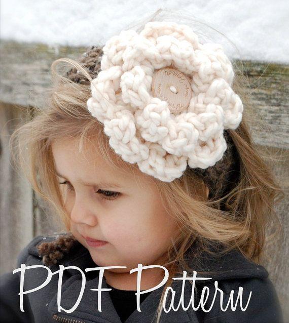 Crochet PATTERNThe Wildflower Warmer One size от Thevelvetacorn
