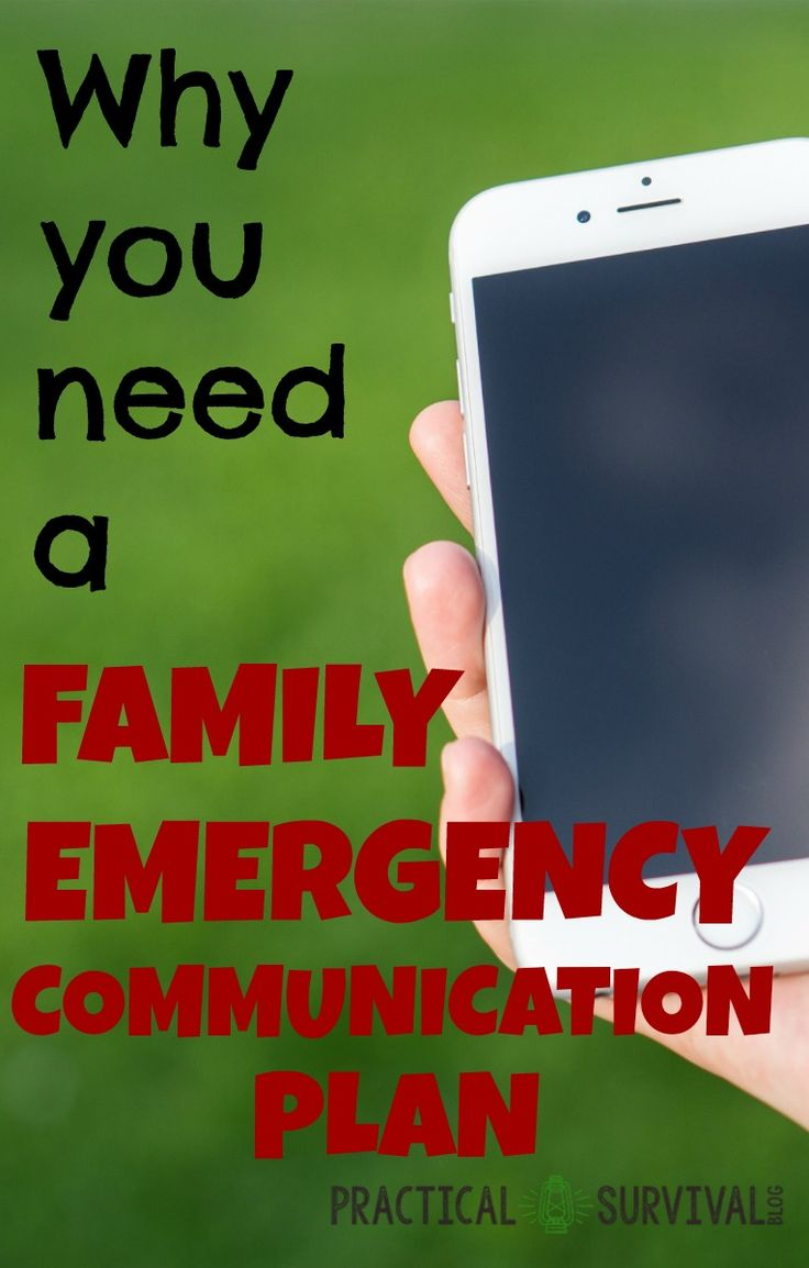 A Family Emergency Communication Plan is a written outline of what to do in the event of an emergency. There's more than just writing out the plan and making