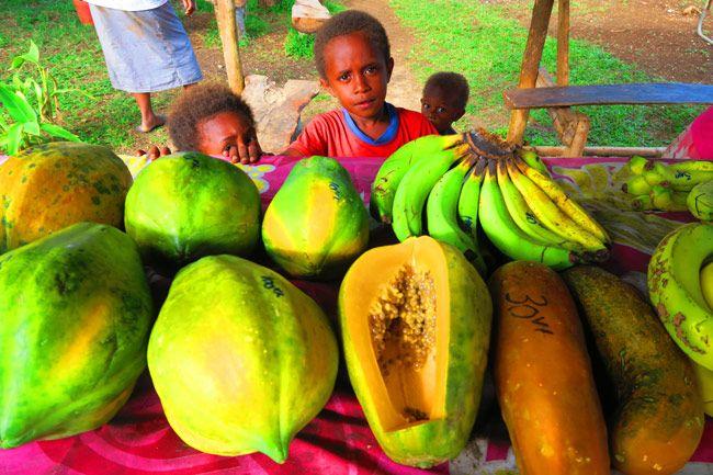 A roadside fruit stall in Espiritu Santo - Vanuatu