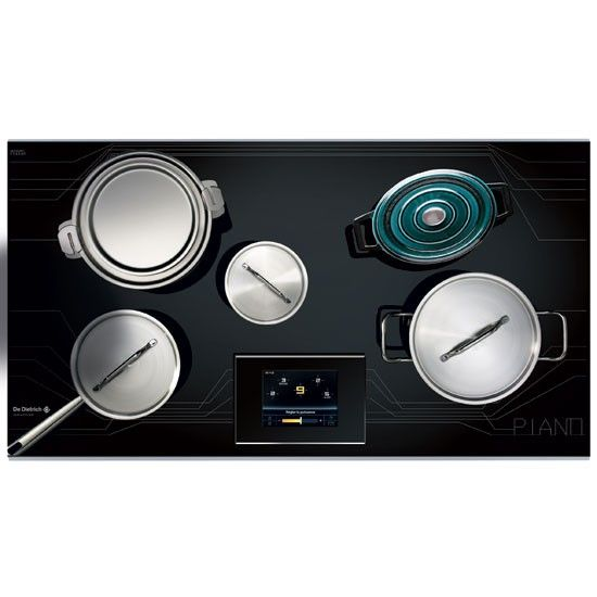 De Dietrich Piano Zoneless Induction Hob. Place items anywhere on the surface to cook at individual temperatures. (As seen in Stephen Fry: Gadget Man.)