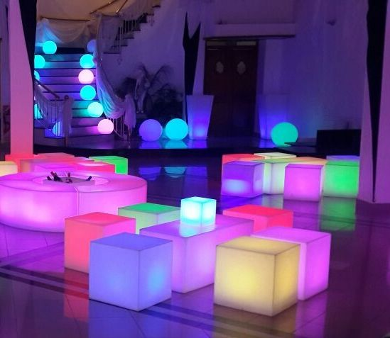 Creative LED Decorations!  Revogi Smart Candlelight can also bring you such colorful interior. One App and Millions of colors at your mood. #smartgadget #smartlighting #interior #portable