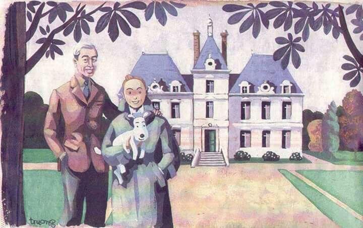 Hergé, Tintin et Milou à Moulinsart
