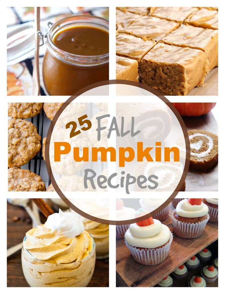 A perfect Fall roundup, 25 Pumpkin Recipes to try !