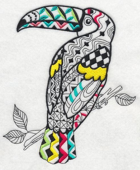 Zentangle embroidery designs makaroka