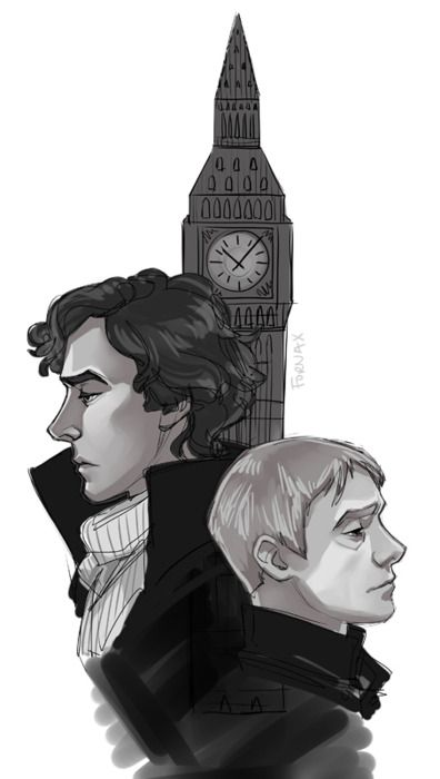 By kreugan. Great job with the shading on the faces/cheeks. There's a lingering sadness in both their faces and eyes.