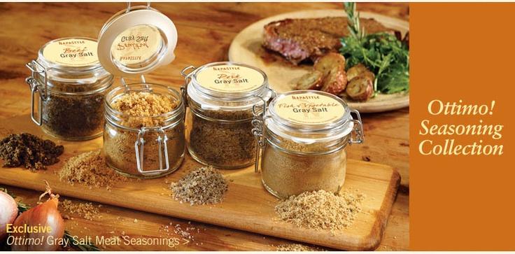 Gourmet salts.Kitchens, Food Gift, Gourmet Salts, Canning Food, Salts Seasons, Food Catalog, Food Seasons, Spices Jars, Flavored Salts