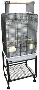 PARROT CAGE OPENING TOP AND STAND