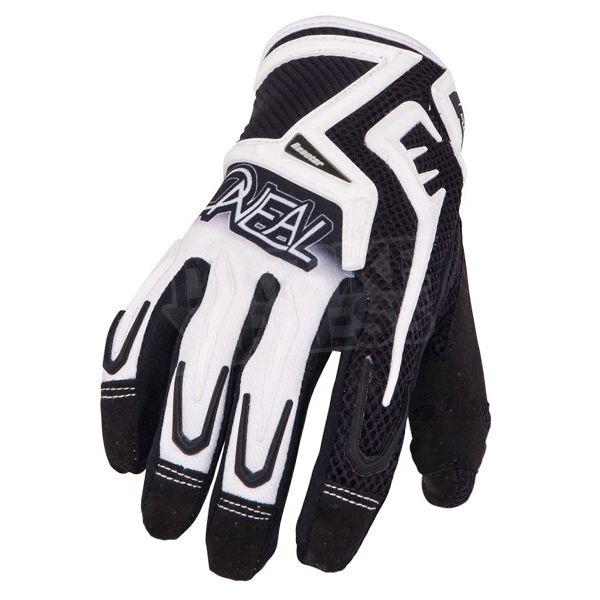 2015 ONeal Reactor Motocross Gloves - Black White - Small - 8