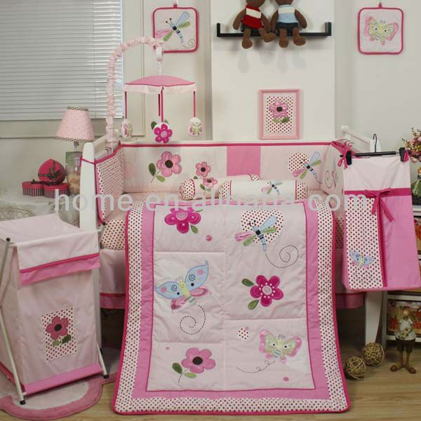 Source new baby products floral design girl crib bedding sets on m.alibaba.com
