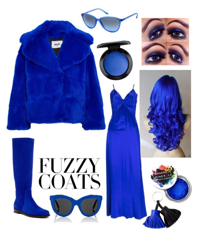"""Electric Blue"" by bellestar7 on Polyvore featuring MSGM, NYX, Vogue Eyewear, Sergio Rossi, MAC Cosmetics, Christian Dior, Victoria Beckham and Hermès"