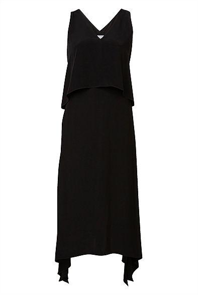 V-Neck Point Hem Dress #WITCHERYSTYLE