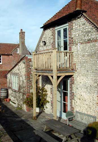 Hardwood French doors opening onto English oak balcony  Bedroom. 34 best Balcony ideas images on Pinterest