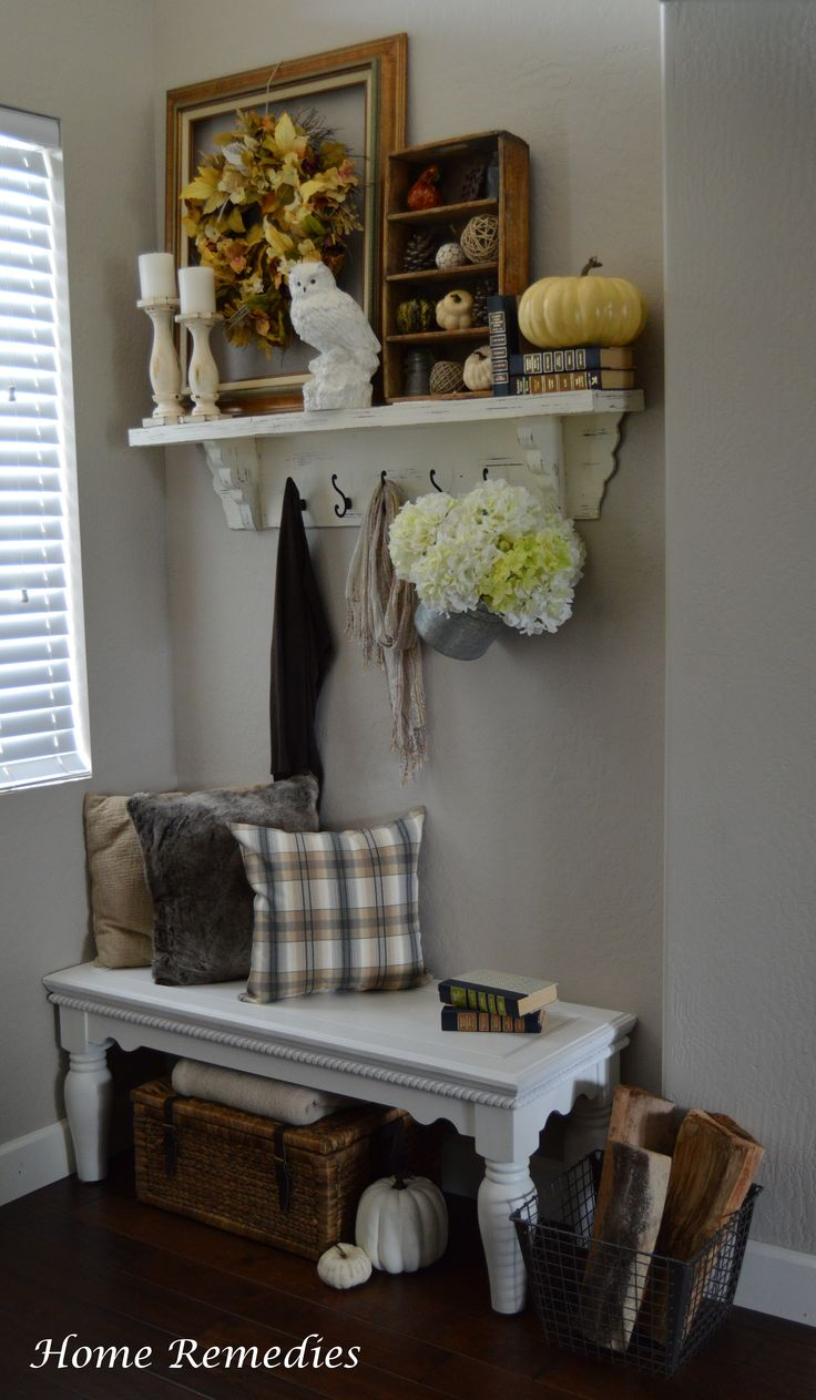 A Rustic Chic Fall Entryway | Home Remedies