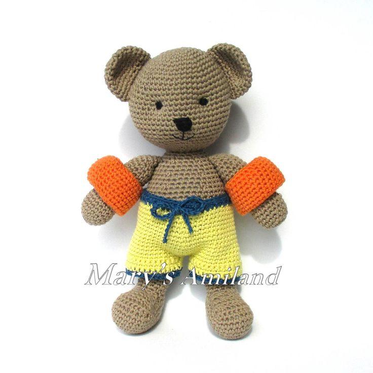 Oliver Bear The Ami - Amigurumi Crochet Pattern | Craftsy