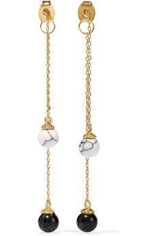 Noir Jewelry Gold-tone resin earrings | THE OUTNET