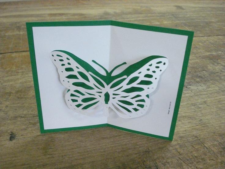 Cartão pop-up: Borboleta