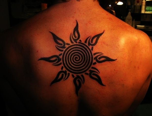 Sun Tattoo Designs for Men and Women (34)…