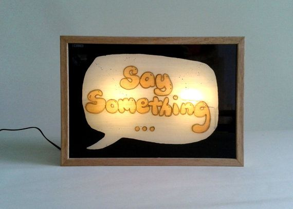 Write Your Own Sign White Board with Light Box  / Illuminated Sign / Personalised / Timber Frame / LED