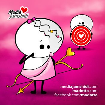 #Madotta is the name of two #cute #lovely #cartoon characters created by Media Jamshidi in #vector style #illustration  https://www.facebook.com/Madotta