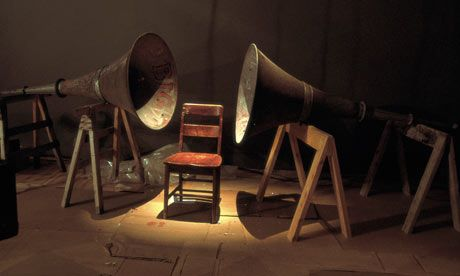 Janet Cardiff and George Bures Miller   Installation from The House Of Books Has No Windows, Fruitmarket Gallery (Edinburgh)