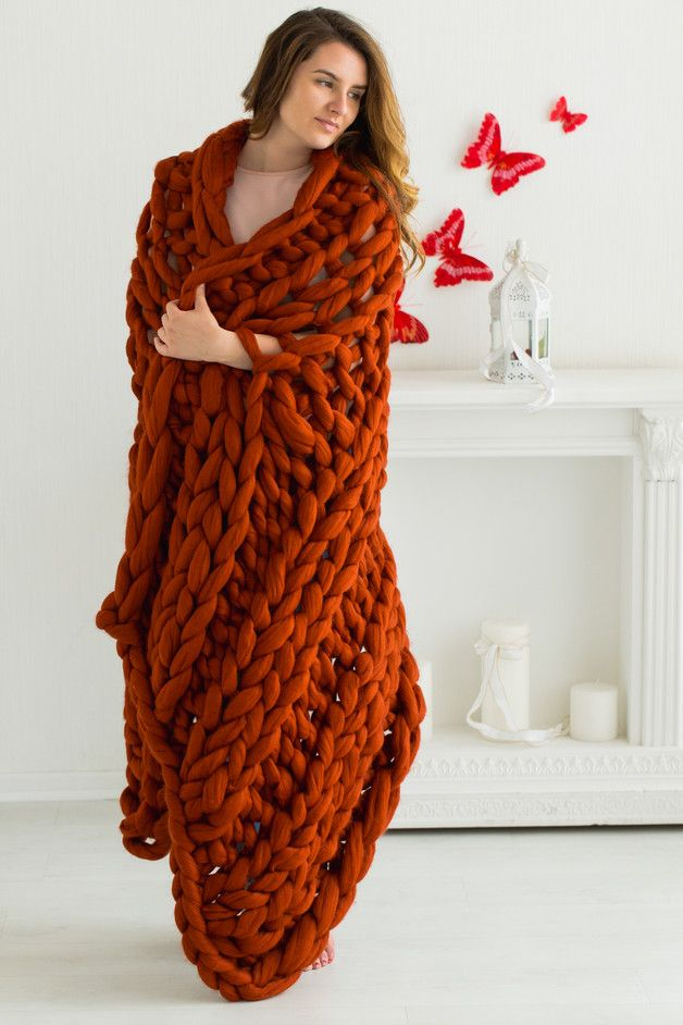 This beautiful super chunky throw blanket is so soft and so warm, you will never…