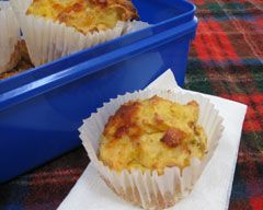 Cheesy bacon and corn muffins