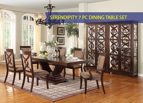 Crown Mark Serendipity Dining Table 2030 Collection