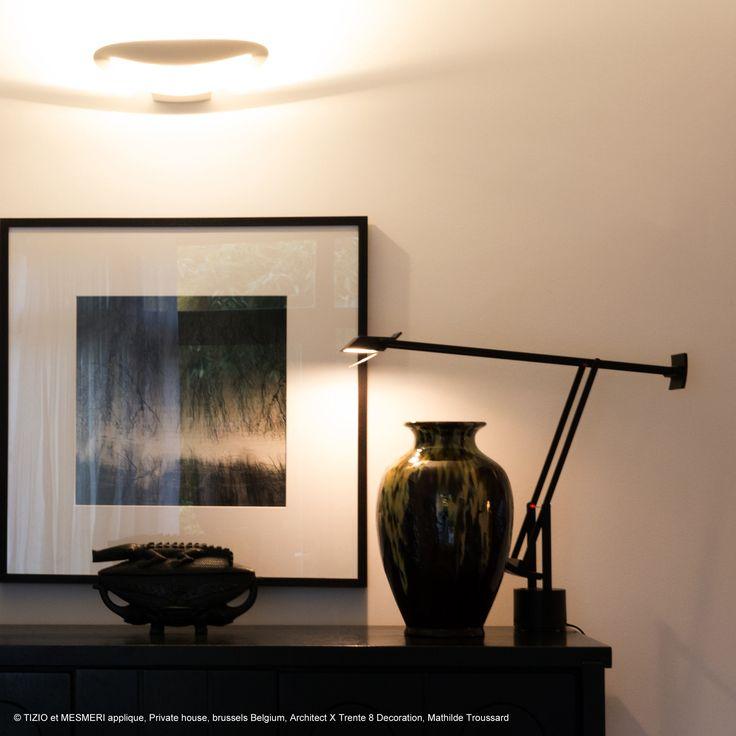 TIZIO - Lampe de bureau articulée Noir H66cm Artemide
