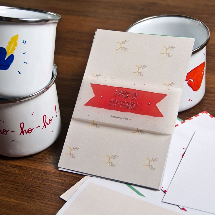 Instead of texting, why don't you send your beloved some postcards? #cestca #enamelmug #enamelware #handicraft #handmade #christmas #gift #christmasgift #giftideas #greetingcard #postcard