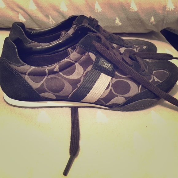 Coach sneakers EASTER SALE Barely ever worn authentic coach sneakers perfect condition super cute yet sporty Coach Shoes Sneakers