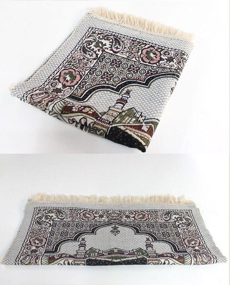 I45 Arribal Islamic Muslim Prayer Mat Salat Musallah Prayer Rug Tapis Carpet Tapete Banheiro Islamic Praying Mat 70*110cm
