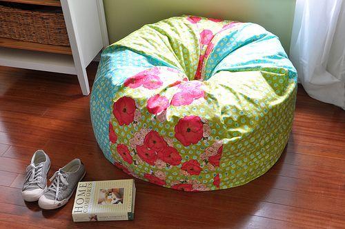 DIY Beanbag!!    Woo hoo! :): Teens Rooms, Bags Tutorials, Beans Bags Patterns, Bean Bag Chairs, Beanbag Chairs, Beans Bags Chairs, Chairs Covers, Bean Bags, Kid