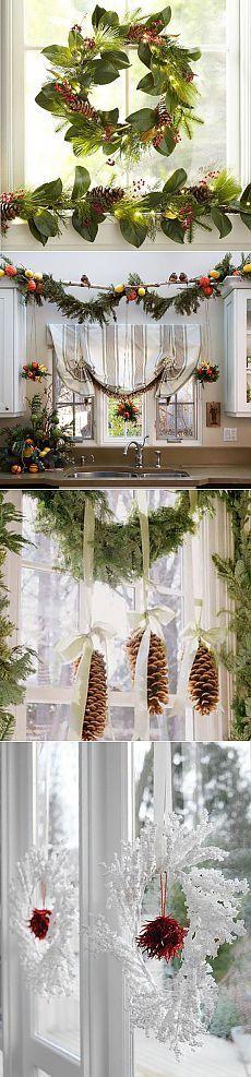 * Украшаем окна к Новому году ! *