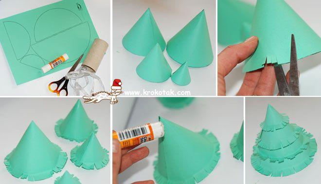 Comment faire vous m me un sapin de no l en papier no l - Comment faire un sapin en papier ...