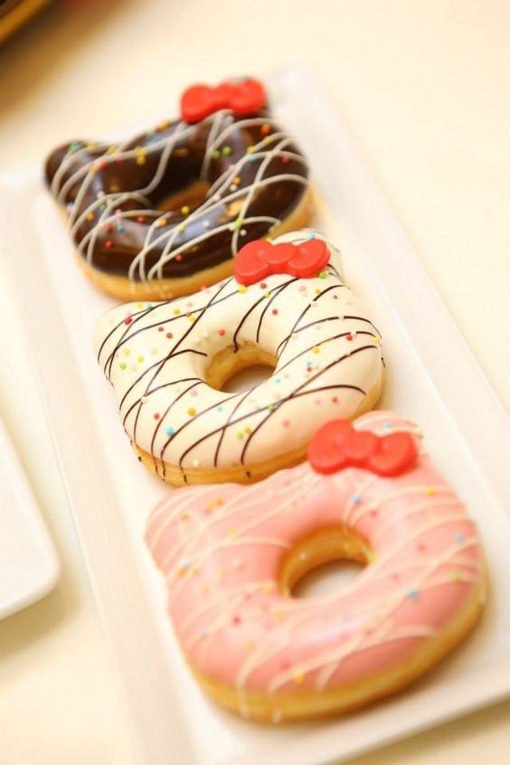 (1) Hello kitty cute donuts | Let me eat sweets! | Pinterest