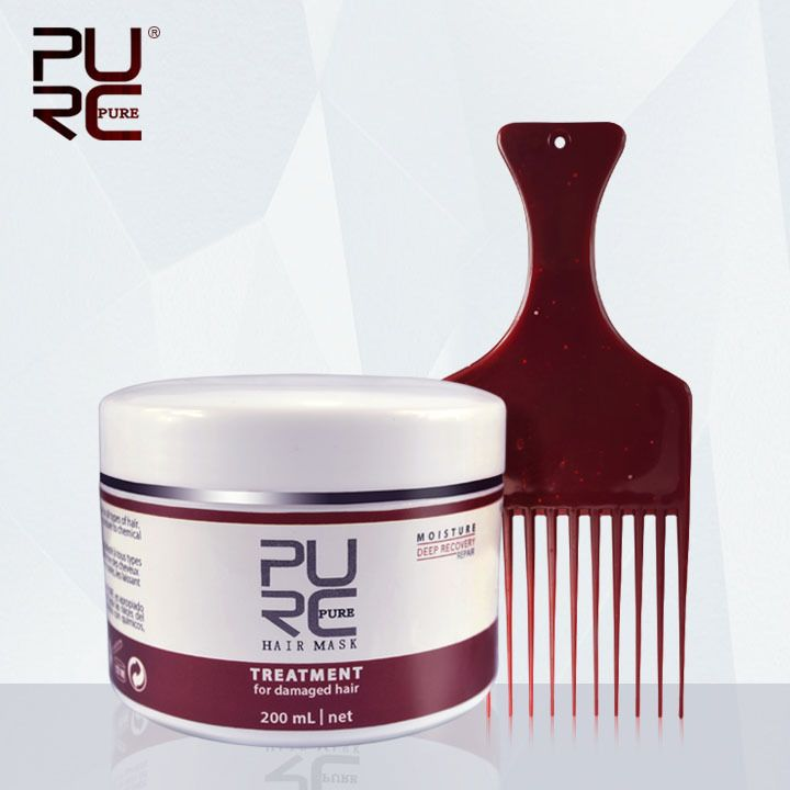 Moisture Deep Recovery Hair Mask hot sale Hair & Scalp Treatment 200ml Hair care get two gifts  hair comb and hair cape