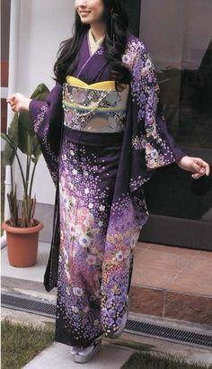 traditional purple kimono