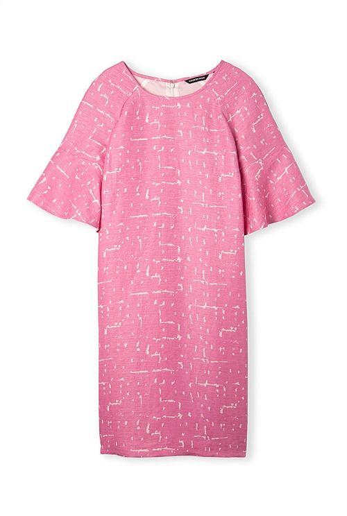 Textured Print Dress