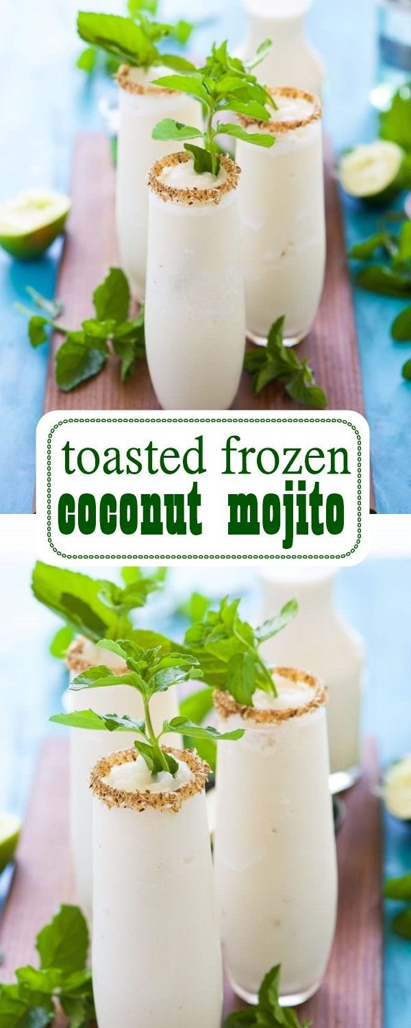 toasted frozen coconut mojito #toastedcoconut #mojito #juicerecipes #juicerecipe…