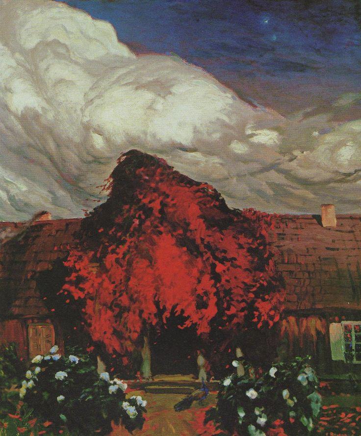 Ferdynand Ruszczyc - Stary dom (Dwór w Bohdanowie), 1903