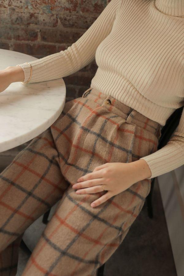 Kordal Alma Wool Trouser – Plaid