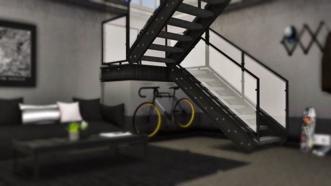 Industrial U Stairs Deco at MXIMS via Sims 4 Updates