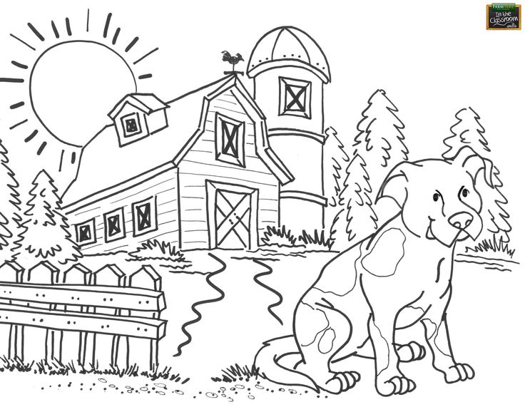 84 best images about free teaching tools kids 39 coloring for Farm color pages
