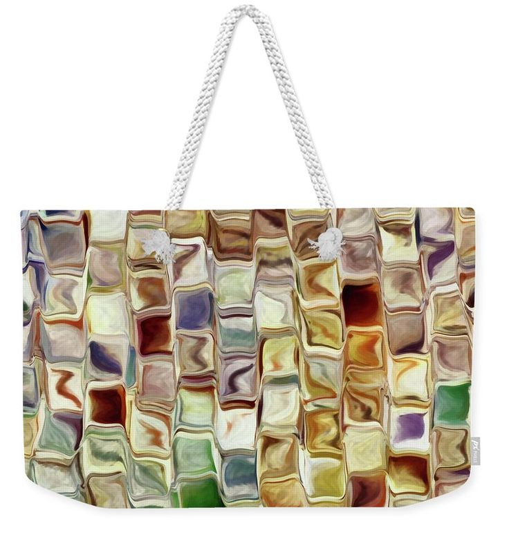 Abstract Weekender Tote Bag featuring the painting Tiled Abstract by Grigorios Moraitis