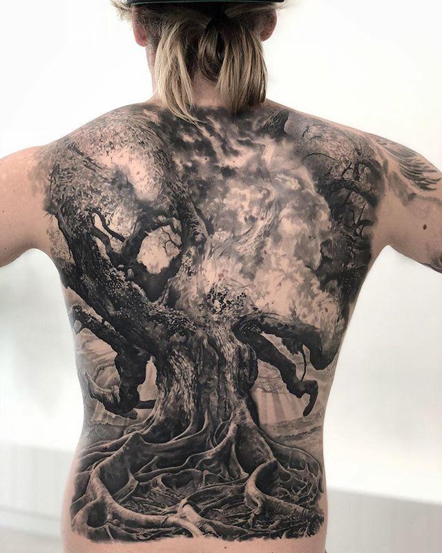 65 Stunning 3d Full Back Tattoo For Man Back Tattoos For Guys