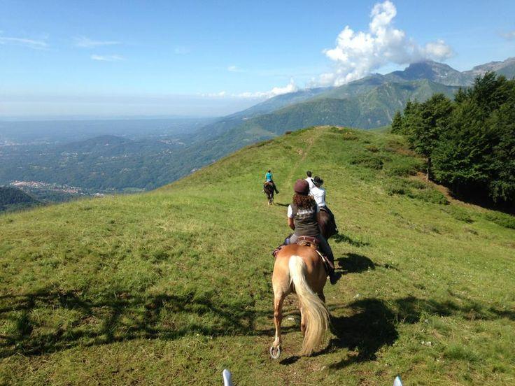 A cavallo nell'Oasi Zegna, in cima alle montagne. #OasiZegna #Italy #horseriding www.oasizegna.com