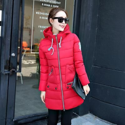 Plus Size 6xl 7xl Winter Jacket Women Thick Cotton Padedd Long Paragraph Female Quilted Coats Hooded Warm Parka Mujer Red XXXL 2