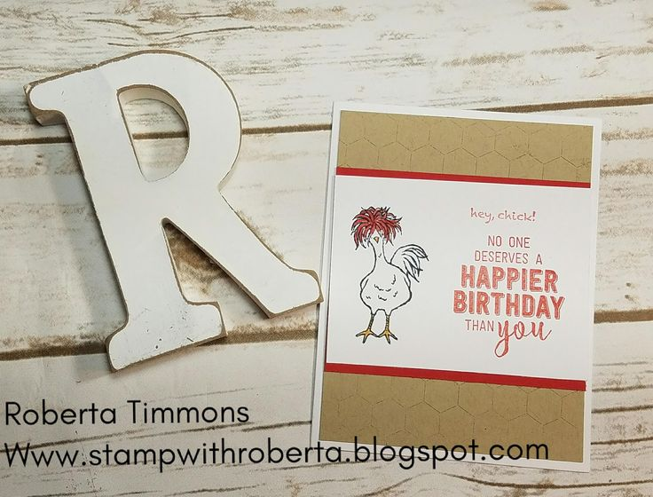 Hello and Happy Friday, I am so glad you stop by today. I have a great birthday card for you using the Hey Chick stamp set again. I thi...
